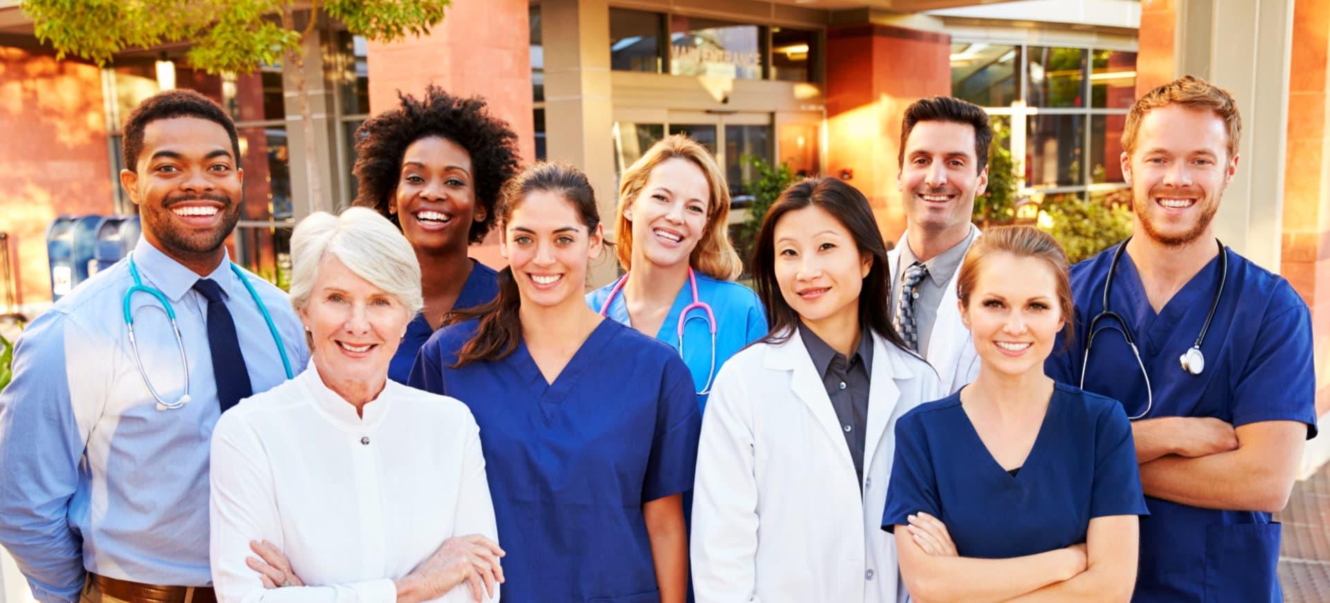 smiling medical staffs