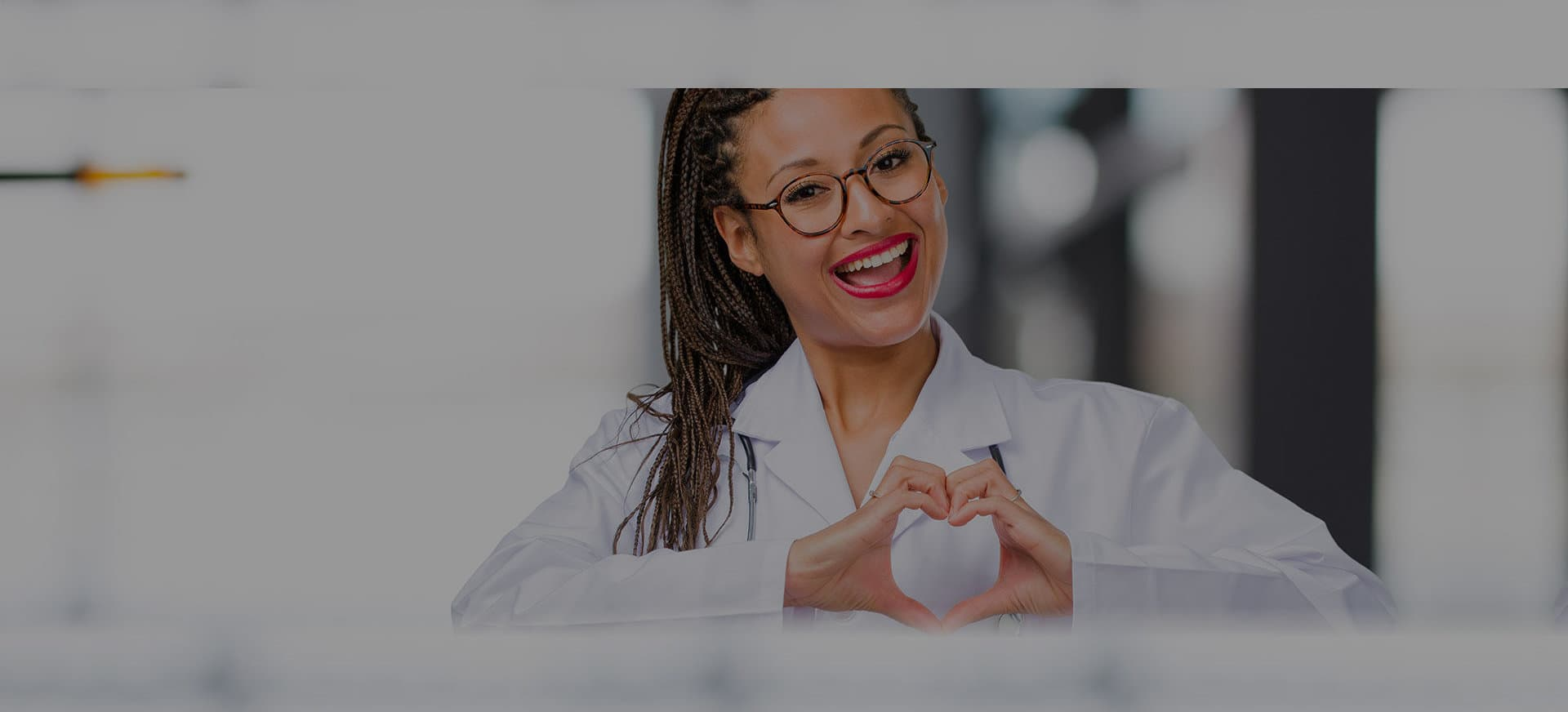 doctor with heart sign
