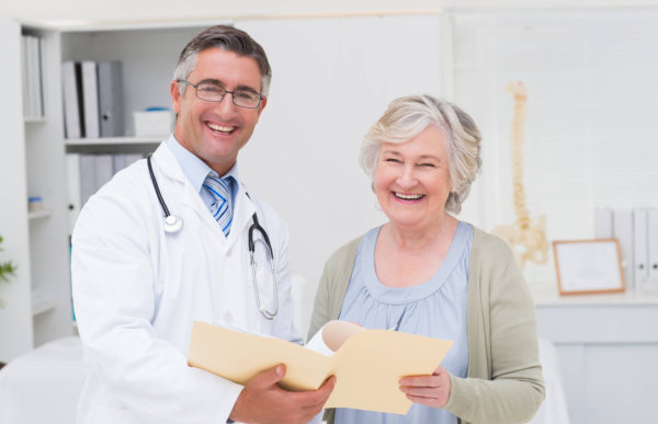 smiling doctor with his patient