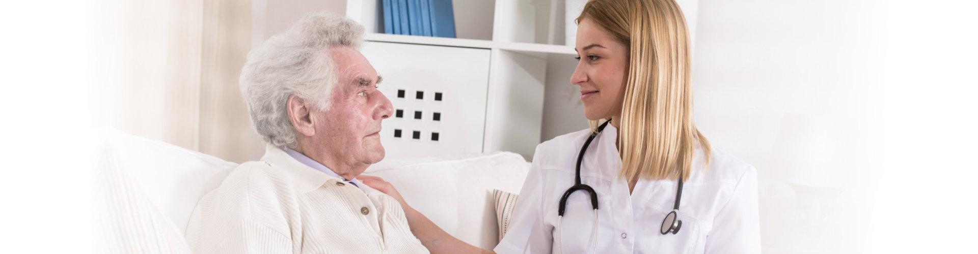 doctor consulting senior man